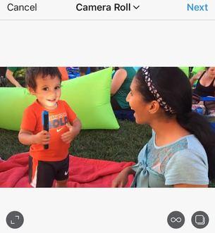 instagram widescreen selected