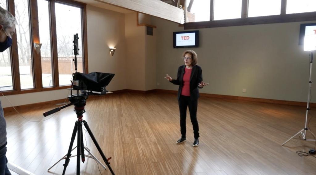 Eric Scherbarth shoots a Ted Talk pitch with Matty D Media